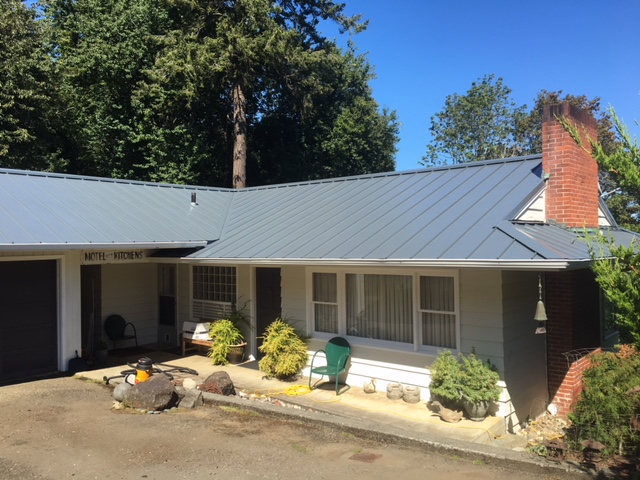 Residential Steel Roof Project Coos Bay Flat Roof