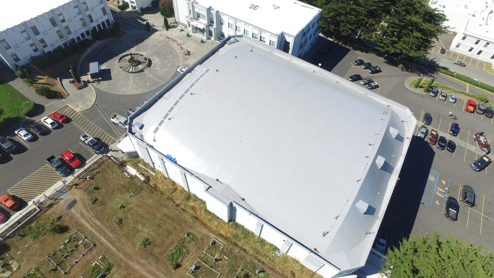 Commercial Flat Roof Project Marshfield Gym Coos Bay