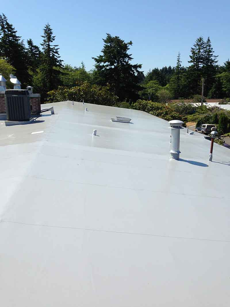 New Flat Roof For Chambers Residence In Coos Bay Oregon